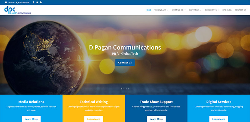 D Pagan Communications Website